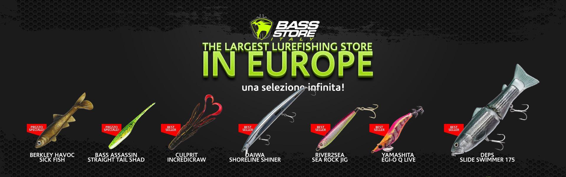 Scegli tra l'immensa collezione di prodotti per la pesca a spinning. Luccio, Bass, Saltwater, Trota