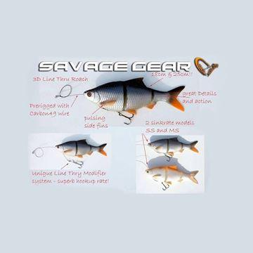 Immagine di Savage Gear 3D Line Thru Roach Swimbait